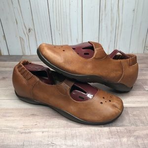 Dansko Brown Mary Jane Leather Flats